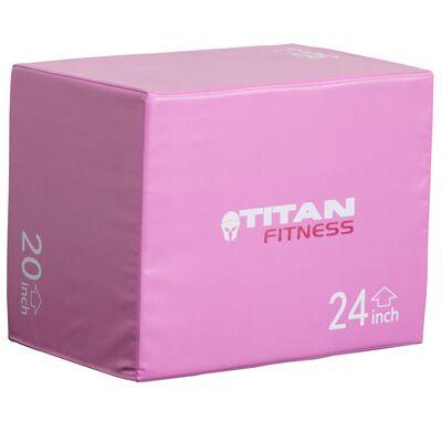 "3-In-1 Soft Foam Plyometric Box | 20"" 24"" 30"" | Limited Edition Pink"