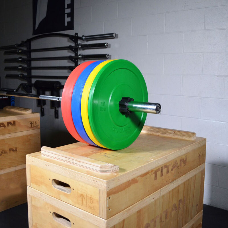 35 LB Single Color Olympic Rubber Bumper Plate