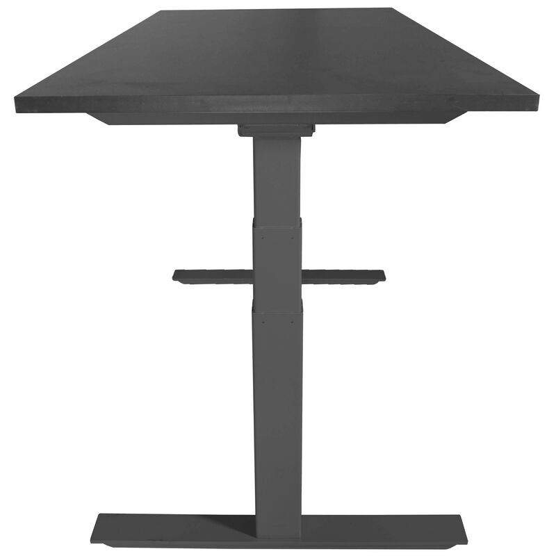 "A6 Adjustable Sit To Stand Desk 24""- 50"" w/ Black 30"" x 48"" Top"