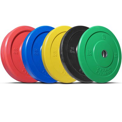 Olympic Rubber Bumper Plates | Color | 260 LB Set | SKU: 430116