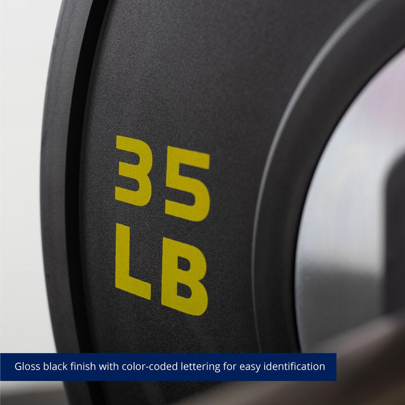35 LB Single Elite Black Bumper Plate