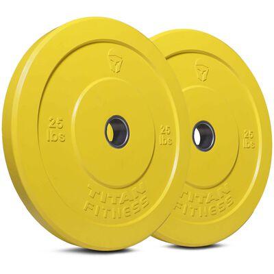 Olympic Rubber Bumper Plates | Color | 25 LB Pair | SKU: 430112