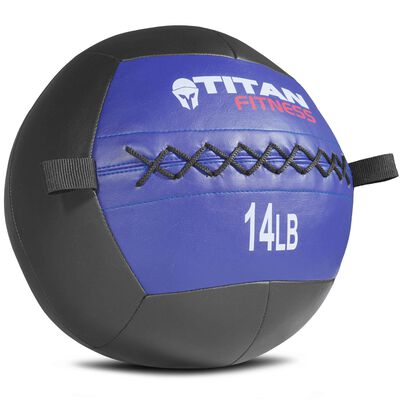 14 lb Soft Medicine Wall Ball Leather