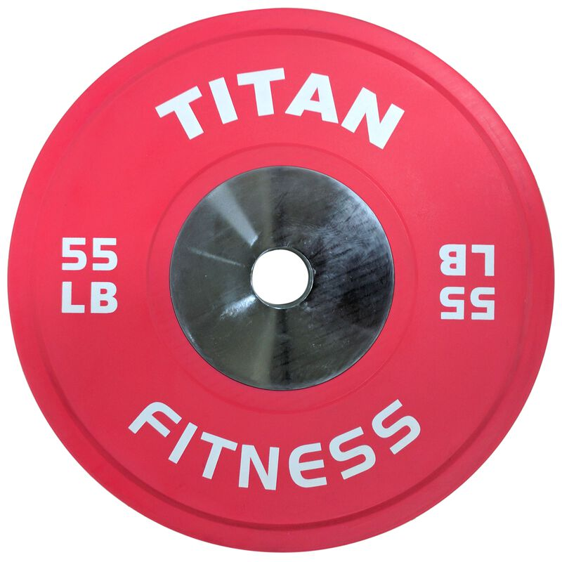 Elite Black Bumper Plate – 55 lb. Single