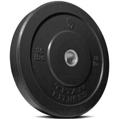 Olympic Rubber Bumper Plates | Black | 35 LB Single