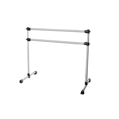 Double Freestanding Ballet Barre | White Aluminum