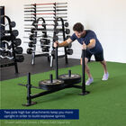 High-Low Push-Pull Sled With UHMW Plastic Shoes