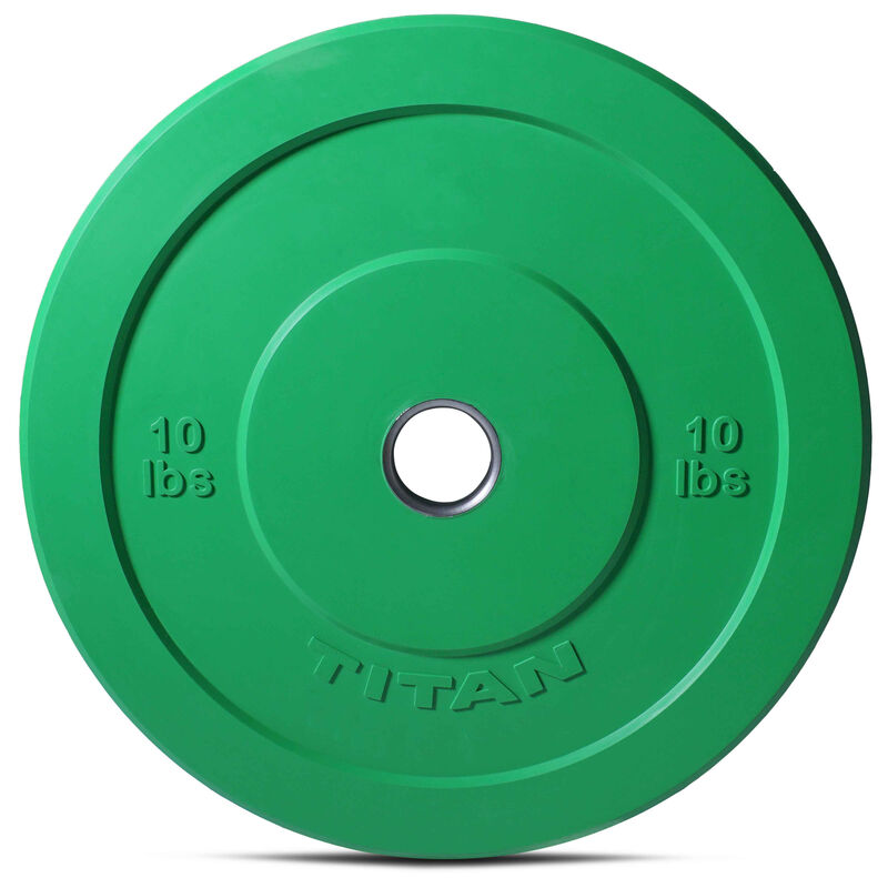 10 LB Pair Color Olympic Rubber Bumper Plates