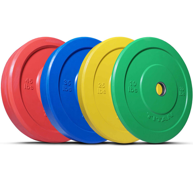 230 LB Set Color Olympic Rubber Bumper Plates