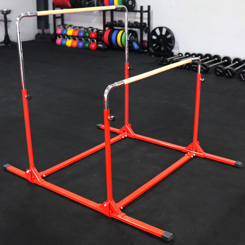 6 FT x 4 FT x 6-in Jr. Gymnastics 5-in-1 Bar & Mat Combo