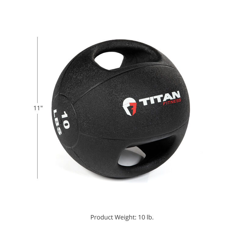 10 LB Dual Grip Medicine Ball