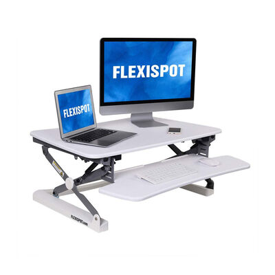 FlexiSpot ClassicRiser Series | Adjustable Standing Desk | 35-in platform | White