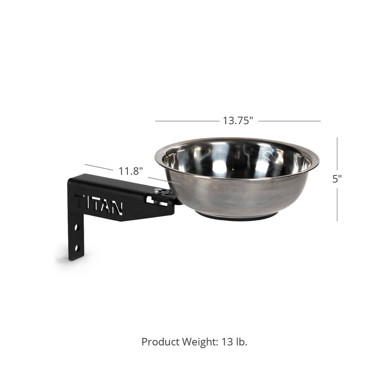 T-3 or X-3 Series Rack-Mounted Chalk Bowl