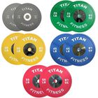 Elite Olympic Bumper Plates | Color | LB