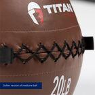 20 LB Soft Leather Medicine Wall Ball