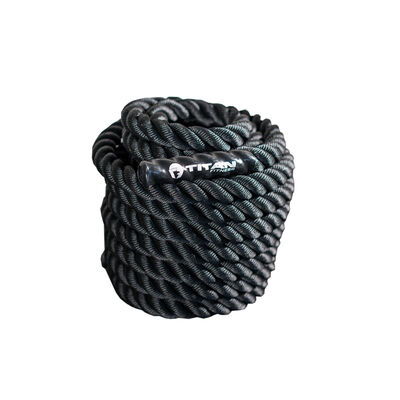 50 ft x 1.5-in Battle Rope – Black Poly Dacron