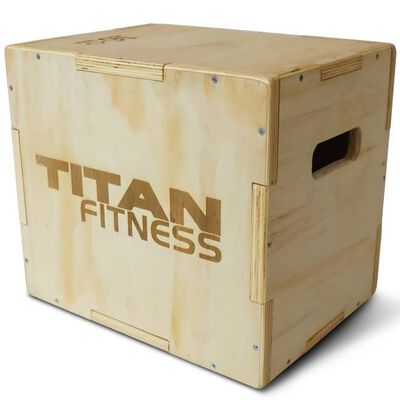 "3-in-1 Wooden Plyometric Box - 12"" 14"" 16"""