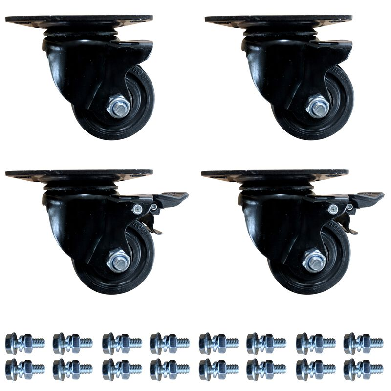 Mass Storage System Caster Wheels - 4 Pack