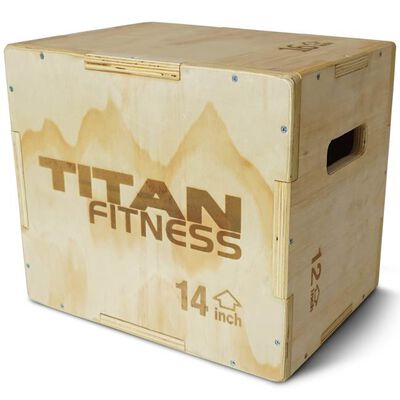 "3-in-1 Wooden Plyometric Box - 20"" 24"" 30"""
