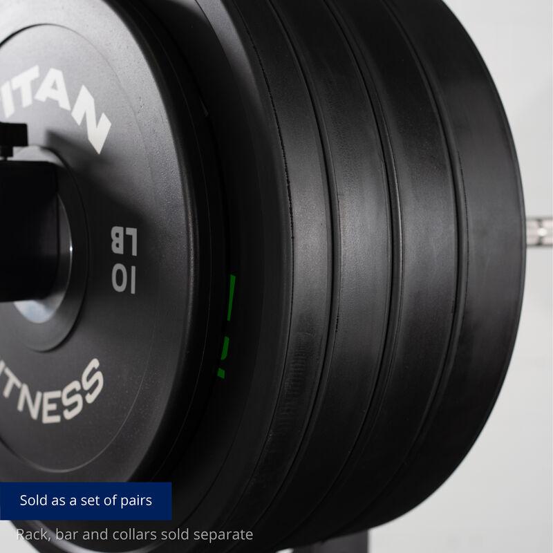 340 LB Set Elite Black Bumper Plates
