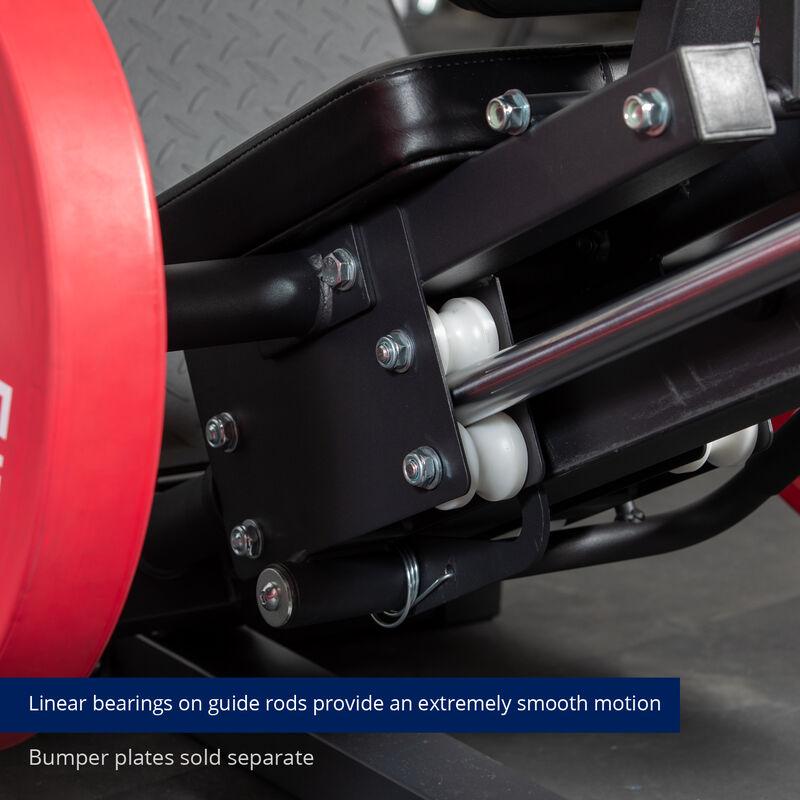 Plate-Loaded Linear Hack Squat Machine