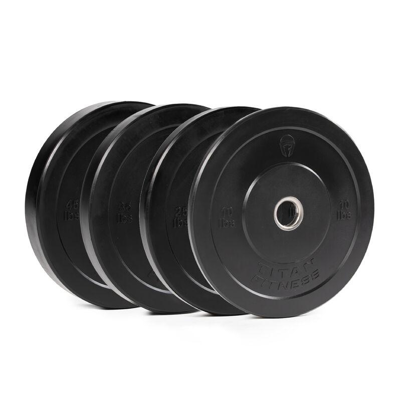 230 LB Set Economy Black Bumper Plates