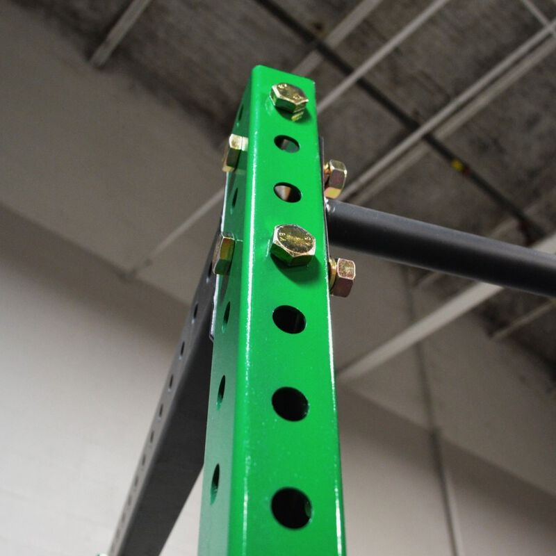 """T-3 Series 91"""" Tall Power Rack Uprights   Uprights Only   Envy Green"""