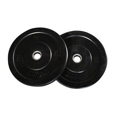 25 LB Pair Economy Black Bumper Plates