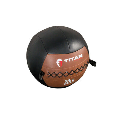20 lb. Soft Medicine Wall Ball – Leather