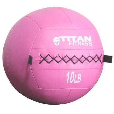 Breast Cancer Awareness   Soft Leather Medicine Wall Ball   10 LB