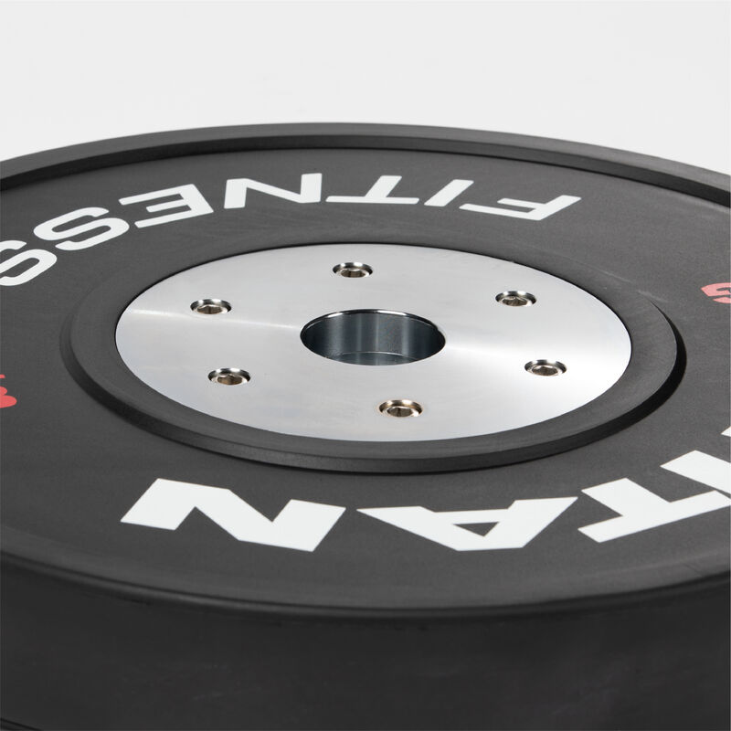 25 KG Single Black Elite Olympic Bumper Plate