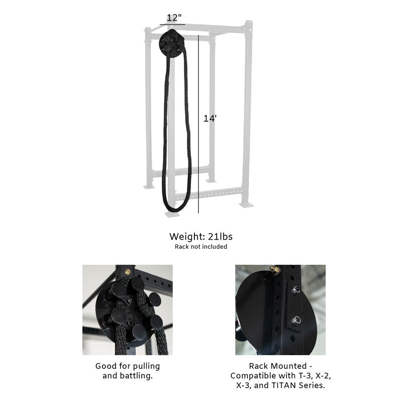 Titan Fitness Rope Pulley with 14-ft Endless Infinity Rope