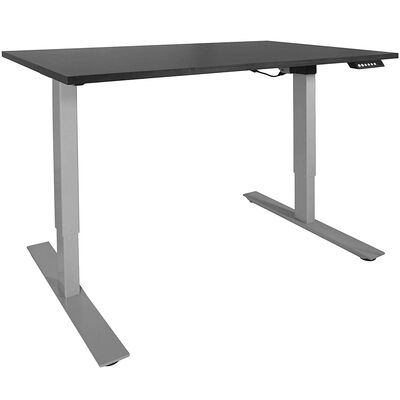 """A2 Adjustable Sit To Stand Desk 24""""- 50"""" w/ Black 60"""" x 30"""" Top"""