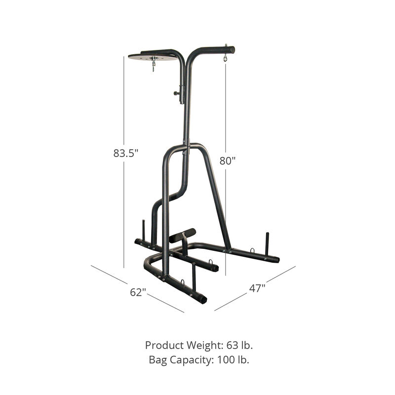 Dual Station Boxing Stand for Speed and Heavy Bag