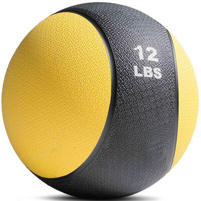 12lb Rubber Medicine Ball Yellow / Black