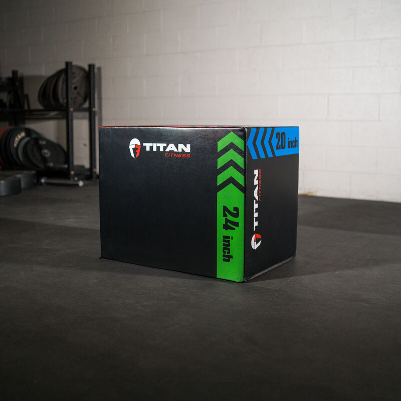 3-In-1 Heavy Foam Plyometric Box – 20-in x 24-in x 30-in
