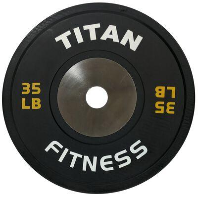 Elite Olympic Bumper Plate | Black | 35 LB Single