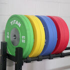 140 KG Set Elite Color Olympic Bumper Plates
