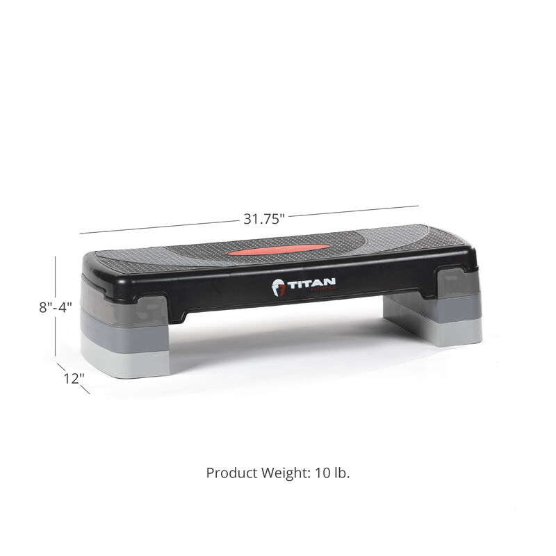 31-in Adjustable Aerobic Step With Risers