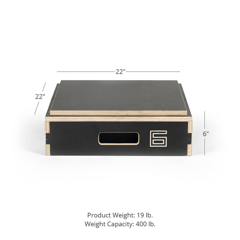 6-in Stackable Wooden Plyometric Box