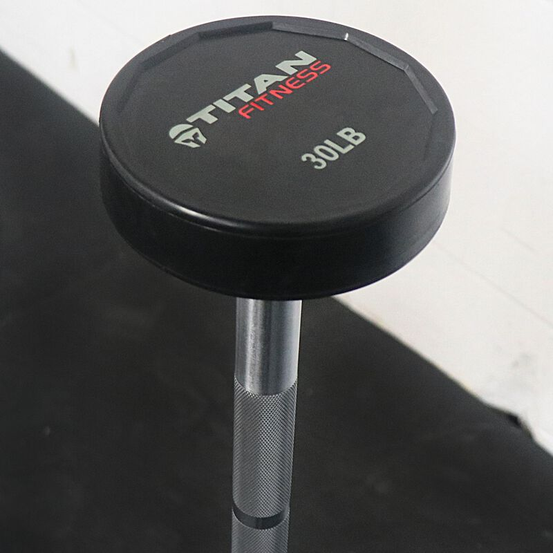 Rubber Fixed Barbell   Straight   30 LB
