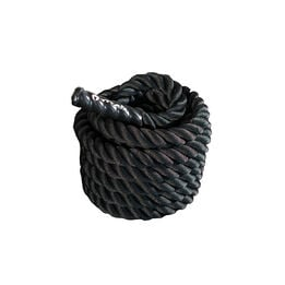 40 ft x 2-in Battle Rope – Black Poly Dacron