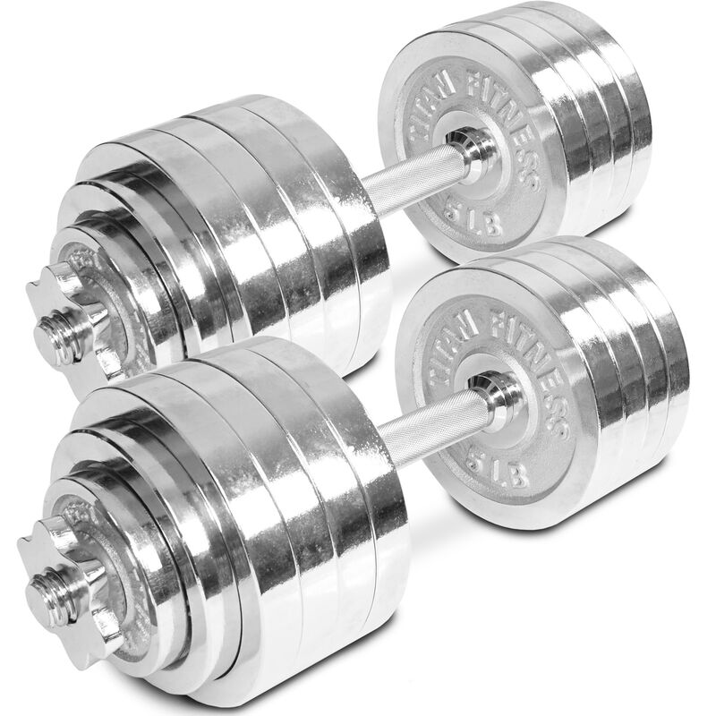 52.5 LB Set Adjustable Chrome Dumbbells