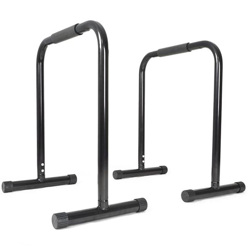 Black Dip Station Leg Raise Bars Body Weight Parallettes