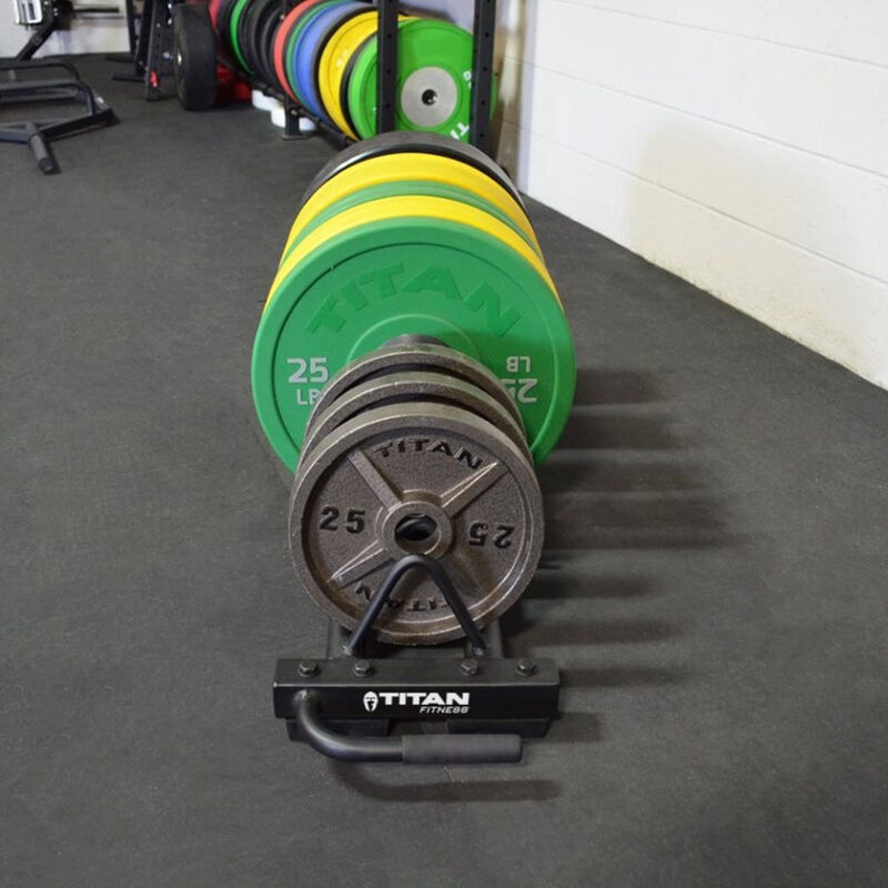 Horizontal Weight Plate Storage With Wheels