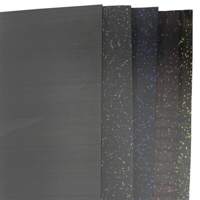 Rubber Gym Flooring | Black | 15' x 4' x 8mm