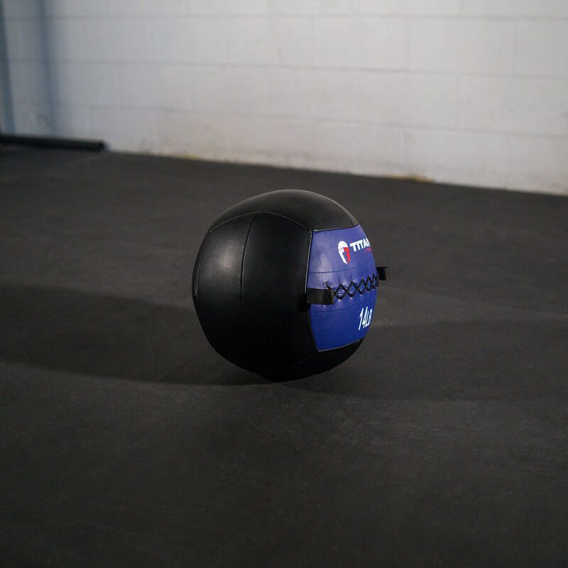 14 lb. Soft Medicine Wall Ball – Leather