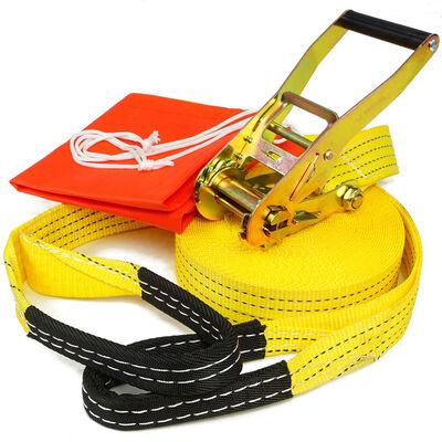 50' Slackline Kit w/ Hook & Ratchet Closer