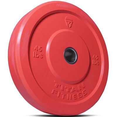45 LB Single Color Olympic Rubber Bumper Plates