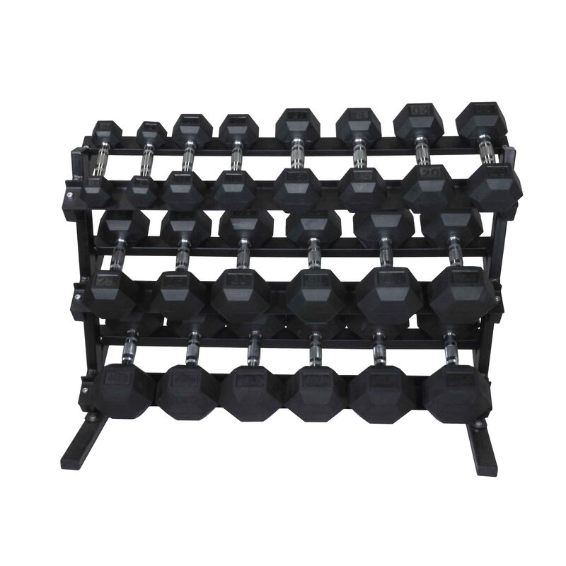 5-50 lb Dumbbell Set w/ Rack
